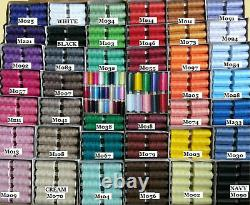 150 Polyester Moon Coats Sewing Overlocking Thread Choose Color Shade Card