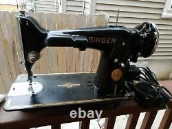 1937Vintage Singer 201-Sewing Machine Gear Driven Works Very Well AE429970