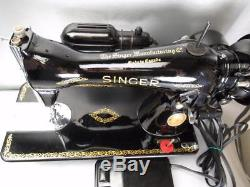 1952 Singer 15-91 Sewing Machine Heavy Duty Industrial Strength Leather Nr Mint