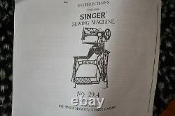 ANTIQUE SINGER 29-4 INDUSTRIAL COBBLER LEATHER TREADLE SEWING MACHINE WithSTAND