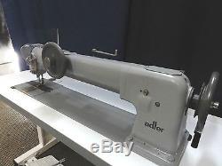 Adler 220 Single Needle Walking Foot Long Arm Industrial Sewing Machine