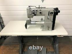 Adler 269 2needle Cylinder Bed Walking Foot Rev 110v Industrial Sewing Machine