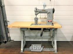 Adler 5/16 Postbed 2n Needle Feed Big Bobbin 110 Servo Industrial Sewing Machine
