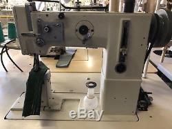 Adler Single Needle Post Sewing Machine with Walking Foot 268FAP withMotor & Table