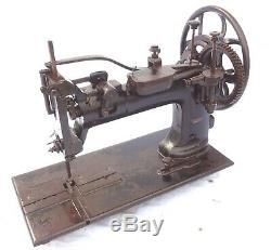 Antique 1878 Rarest Industrial Sewing Machine Double Big Gear Mechanism 80 Lbs