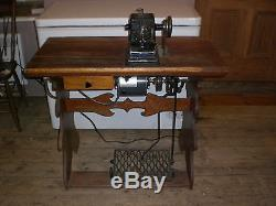 Antique Industrial Working Order Complete Assembly Osann Fur Sewing Machine