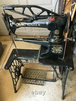 Antique Singer 29-4 Industrial Cobblers Treadle Sewing Machine Leather G9237650