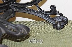 Antique WILLCOX & GIBBS Cast Iron Sewing Machine Treadle Base Industrial 1870