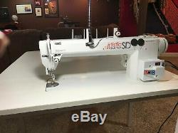 Artistic Quilter SD 18 Sit Down Longarm Machine and Industrial Drop Leaf Table