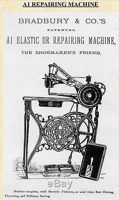 Bradbury & Co. Ltd No. 1080 Sewing Machine Patd. 1878