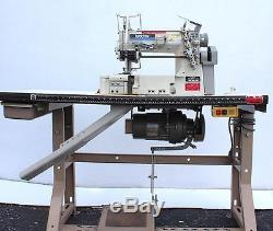 BROTHER FD4-B272 Coverstitch 3-Needle Right Hand Knife Industrial Sewing Machine