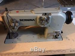 Bernina 217 high-speed industrial sewing machine with table See All Pictures
