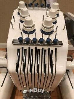 Brother Embroidery Machine PR-600II 6 Needle EUC Low Hours With Hoops & Extras