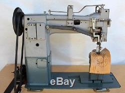 CHANDLER 55B Post Bed 2-Needles 1/4 Gauge Needle Feed Industrial Sewing Machine