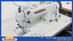 CONSEW 205RB-1 Top and Bottom Feed Walking Foot Leather Sewing Machine NEW