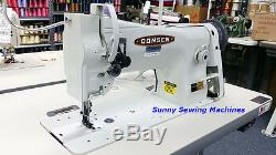 CONSEW 206RB-5 Leather Sewing Machine Fully Assembled with Servo Motor NEW
