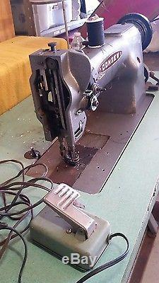 CONSEW WALKING FOOT leather upholstery table, motor, INDUSTRIAL SEWING MACHINE