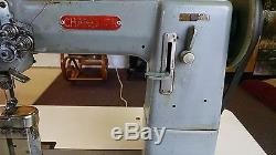 Chandler 55 Post Bed Double Needle Split Bar Industrial Sewing Machine 6 Post