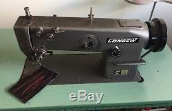 Consew 201r Walking Foot Comercial/industrial Heavy Duty Sewing Machine