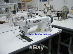 Consew 205RB-1 Walking Foot Sewing Machine for Leather with Large Bobbin & Servo
