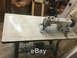 Consew 205RB Industrial Walking Foot Sewing Machine with 3/4HP Servo Mtr and Table