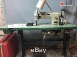 Consew 206RB-5 Industrial walking foot Sewing Machine with table with clutch motor