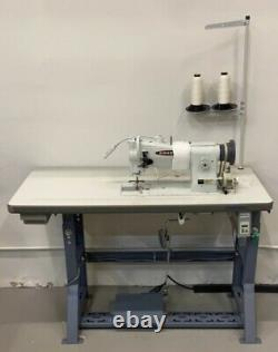 Consew 206RB-5 Upholstery Sewing Machine, Stand, REAL Motor & LED Lamp