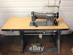 Consew 206-rb Walking Foot Big Bobbin 110 Volt Servo Industrial Sewing Machine