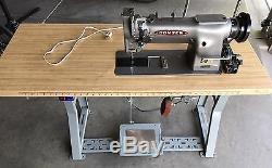 Consew 226R-2 Industrial Commercial Sewing Machine with Table and Servo Motor