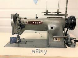 Consew 226r-1 Walking Foot +reverse 110v Servo Industrial Sewing Machine