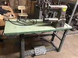 Consew 227 Cylinder Arm Walking Foot Industrial Sewing Machine with Table