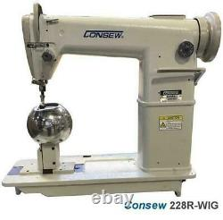 Consew 228R-WIG High Speed, Post Bed, 1 Needle, WIG SEWING MACHINE
