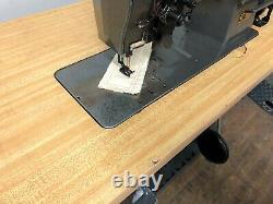 Consew 327 R-1 Split Needle Bar 1/4 Reverse 110v Servo Industrial Sewing Machine