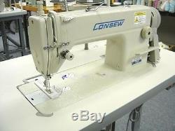 Consew 7360RH Single Needle Sewing Machine with 3/4HP SERVO MOTOR AND TABLE K. D