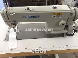 Consew 7360r-2ss New Single Needle Sewing Machine New Complete & Servo Motor