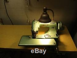 Consew Industrial Blind Stitch Sewing Machine 221 Complete with Motor Table