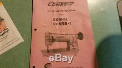 Consew Model 206RB-1 industrial sewing machine with table