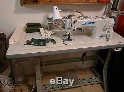 Consew P1206RB Walking Foot Leather and Upholstery Sewing Machine WithLOTS of Xtra