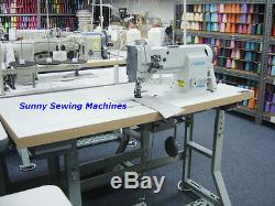 Consew P2339RB Double Needle Walking Foot Sewing Machine with Servo Motor 1/4