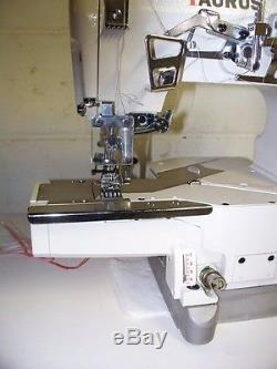 Cover stitch industrial sewing machine top and bottom with cylinder bed, servo