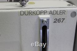 Durkopp Adler 267- 373 Walking Foot Leather Industrial Sewing Machine +Motor