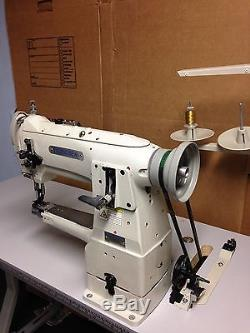 Econosew Industrial Cylinder-arm Lockstitch Sewing Machine with Servo Motor&Table