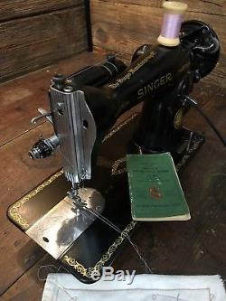 HEAVY DUTY INDUSTRIAL STRENGTH SINGER 15-91 SEWING MACHINE DenimLeatherUpholster