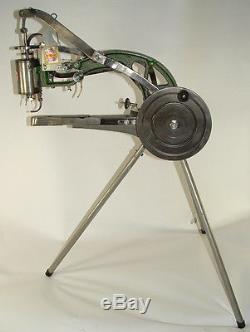Hand Crank Industrial Patcher Sewing Machine Kit leather (best value on eBay!)