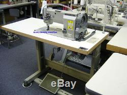 Highlead GC20618-2 Fully Assembled Double Needle Leather Sewing Machine 1/4