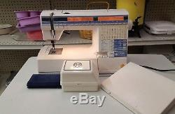 Husqvarna Viking 300 Embroidery Sewing Machine with Foot Pedal & accessories