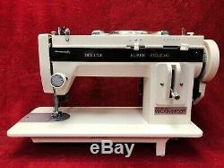 INDUSTRIAL STRENGTH Sewing Machine HEAVY DUTY UPHOLSTERY & LEATHER +WALKING FOOT