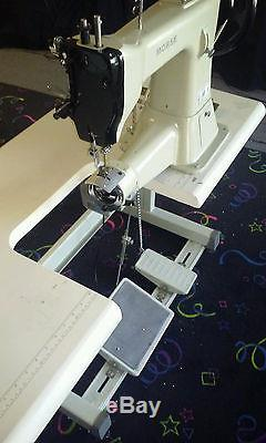 INDUSTRIAL long arm commercial saddle SEWING MACHINE 3/4 INCH PRESSER FOOT LIFT