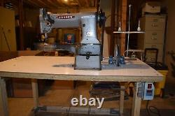 Industrial Leather Cylinder Sewing Machine Model Consew 227 triple-feed w motor