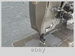 Industrial Sewing Machine Consew 328 RB- walking foot- twin split ndl- Leather